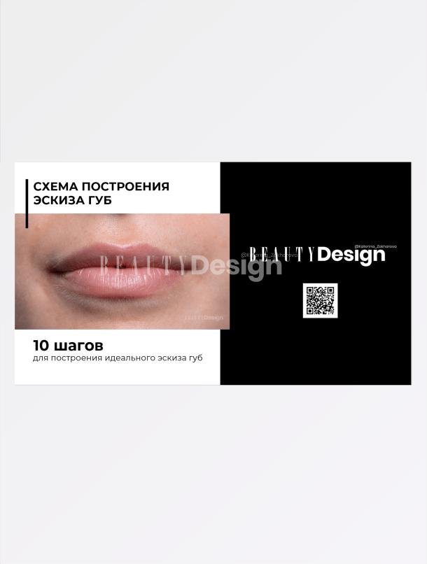 Схема построения эскиза губ