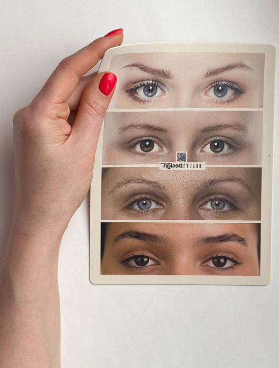 Фото-коврик для перманентного макияжа бровей