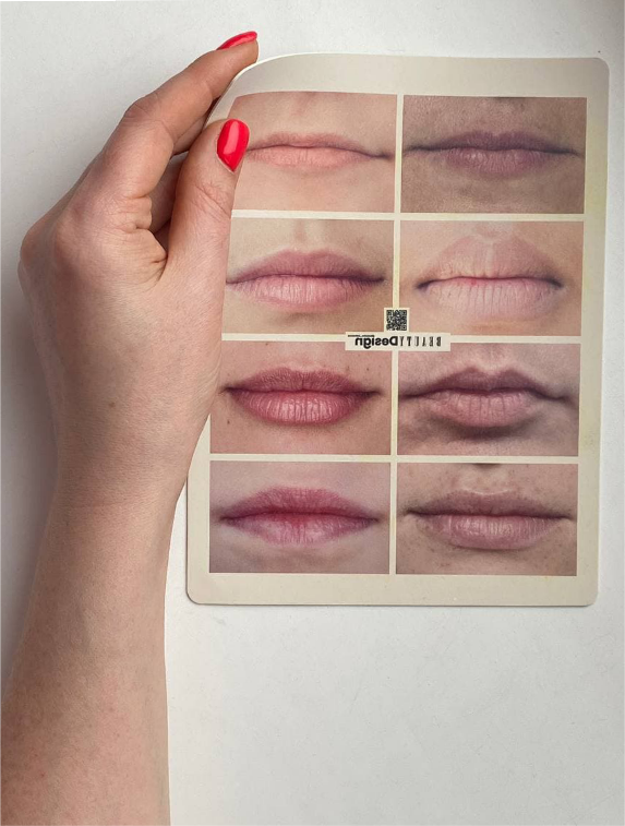 Фото-коврик для перманентного макияжа губ